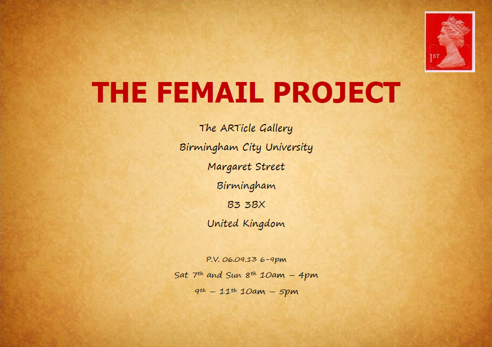 The Femail Project closed successfully in Birmingham, UK