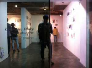 On the opening reception in Space-Mass, Seoul, Oct.17th.