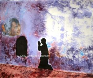 Gaby B. Cardenas, FREEDOM OF FAITH, 43 x 36 cm, mixed media, 2013