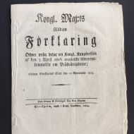 DON'T RETOUCH ANYTHING, Artist's book, mixed media (1819's paper from Sweden's Royal Announcement/contact prints), 2017