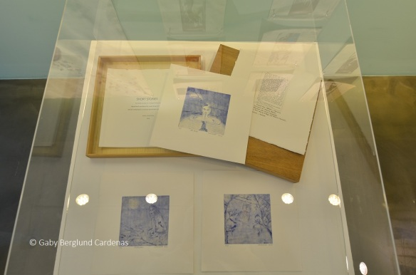 Artists' books (made of etchings) on display at Praum Gallery during my Solo Exhibition in 2015